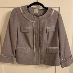 Halogen tweed gray blazer from Nordstrom.